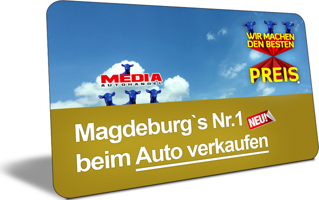 """Media Autohandel Magdeburg - KFZ-Ankauf und Verkauf, Einfahrt """"Blaue Kuh"""" - Auto verkaufen"""