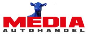 """Media Autohandel Magdeburg - KFZ-Ankauf und Verkauf, Einfahrt """"Blaue Kuh"""" - Logo Footer"""